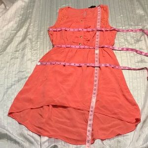 Pearl lined coral dress new w/o tag!